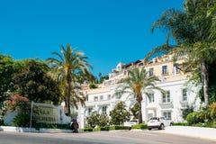 Whitewashed House In Malaga region, Andalusia Royalty Free Stock Photo