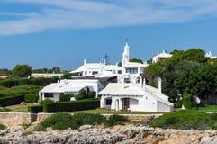 Whitewashed Houses in Binibeca - Menorca stock photos