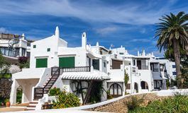 Whitewashed Houses in Binibeca - Menorca stock image
