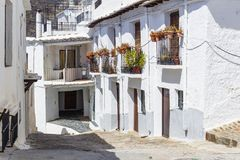 Whitewashed houses of Capileira, the Alpujarra royalty free stock images