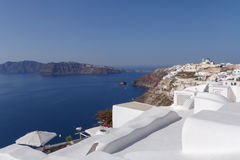Whitewashed houses in Oia Royalty Free Stock Photography