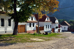Whitewashed houses in Torocko, Rimetea village. Romania Stock Image