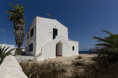 Whitewashed Mediterranean building Royalty Free Stock Photos