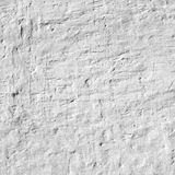 Whitewashed Old Brick Wall Uneven Bumpy Rough Rustic Background Stock Photo