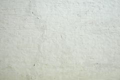 Whitewashed Old Brick Wall Uneven Bumpy Rough Rustic Background Stock Photos