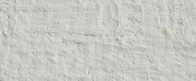 Whitewashed Old Brick Wall Uneven Bumpy Rough Rustic Background Royalty Free Stock Photography