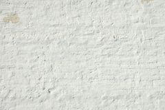Whitewashed Retro Brick Wall Uneven Bumpy Rough Rustic Background Royalty Free Stock Images
