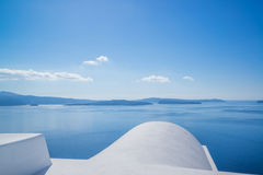 Whitewashed rooftops of Santorini Royalty Free Stock Photography