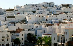 Whitewashed Spanish village Stock Photo