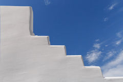 Whitewashed staircase on Santorini Royalty Free Stock Images