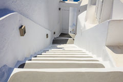 Whitewashed stairs in Santorini, Greece. Santorini island, Greece - White houses and stairs Stock Photo