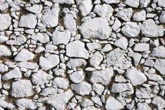 Whitewashed stone wall Stock Photo