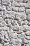 Whitewashed stone wall Royalty Free Stock Photos