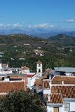 Whitewashed village, Guaro, Spain. Stock Photos