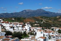Whitewashed village, Guaro, Spain. Stock Photo