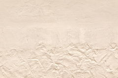 Whitewashed Wall With Textured Plaster Close Up Background Stock Photos