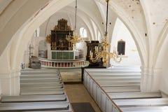 Whitewashed wedding church in Scania, Sweden. Popular wedding church in south Sweden Stock Image