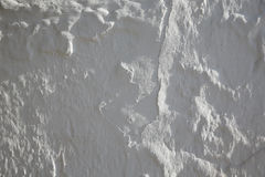 Whitewashed white Mediterranean wall texture. In spain Stock Images