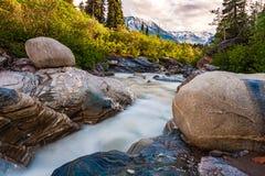 Whitewater в ряде Аляски Стоковая Фотография