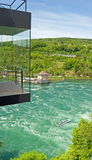 Whitewater на Rhine Falls, Швейцарии Стоковое Изображение