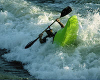 Whitewater. Kayaker Stock Image