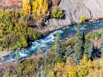 Whitewater auf Windy Creek, Alaska stockfotografie