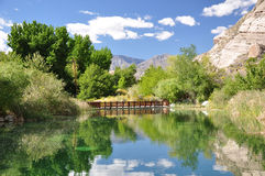 Whitewater Canyon Preserve. View of a small pond at Whitewater Canyon Preserve near Palm Springs, California Stock Photography