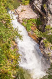 Whitewater in the Chattahoochee National Forest. Tempesta Falls at the Tallulah Gorge State Park, Georgia, during 200 cfs aesthetic water release Royalty Free Stock Images