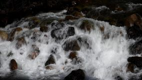 Whitewater and Dark Shadows - Merced River, California stock video