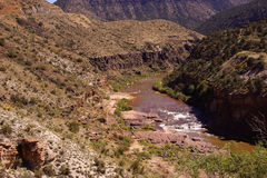 Whitewater in the desert gorge Stock Images