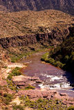 Whitewater in the desert gorge Royalty Free Stock Images