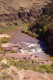 Whitewater in the desert gorge Royalty Free Stock Photos