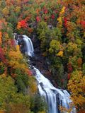 Whitewater Falls in Autumn Stock Image