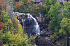 Whitewater Falls in North Carolina. Nantahala National Forest Stock Images