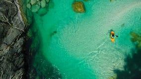 Whitewater-Flößen auf dem Smaragdwasser von Soca-Fluss, Slowenien Lizenzfreie Stockfotografie