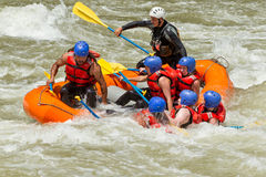 Whitewater-Fluss-Flößen Lizenzfreie Stockfotografie
