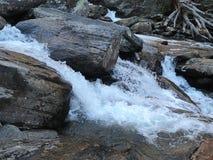 Whitewater-Flussfelsen Stockfotos