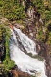 Whitewater in het Nationale Bos van Chattahoochee stock afbeelding