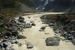 Whitewater in Hooker Valley Royalty Free Stock Images