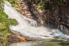 Whitewater i den Chattahoochee nationalskogen royaltyfria bilder