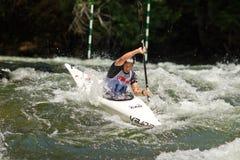 Whitewater kayak race Stock Image
