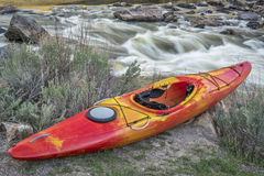 Whitewater kayak and river rapid. Rodeo Rapid on the upper Colorado River at Burns, Colorado, USA Stock Photo