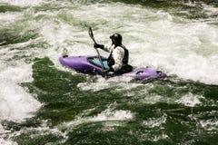 Whitewater Kayaker Στοκ Φωτογραφίες