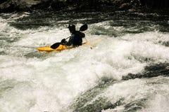 Whitewater Kayaker στοκ εικόνα