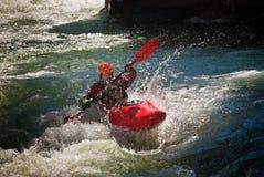 whitewater kayaker Стоковое Изображение