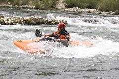 Whitewater kayaking Royalty Free Stock Photography