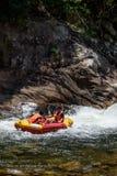 Whitewater kayaking Stock Images
