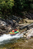 Whitewater kayaking Royalty Free Stock Photography