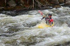 Whitewater kayaking Stock Image