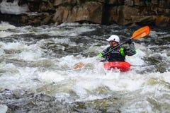 Whitewater kayaking Royalty Free Stock Photos